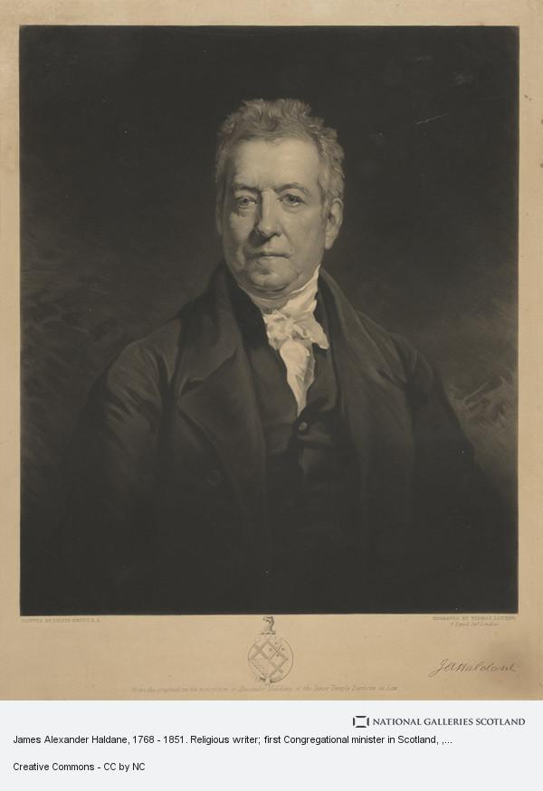 Colvin Smith, James Alexander Haldane, 1768 - 1851. Religious writer; first Congregational minister in Scotland