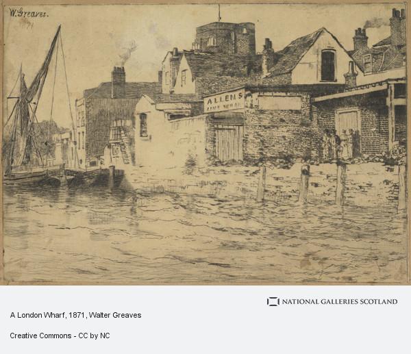 Walter Greaves, A London Wharf