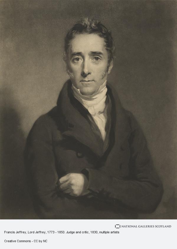 Samuel Cousins, Francis Jeffrey, Lord Jeffrey, 1773 - 1850. Judge and critic