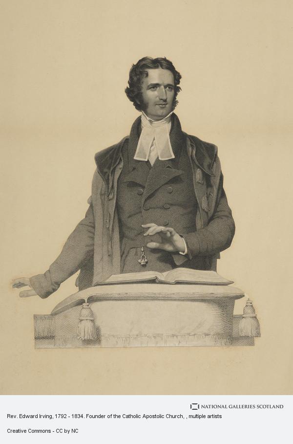 Rev  Edward Irving, 1792 - 1834  Founder of the Catholic Apostolic