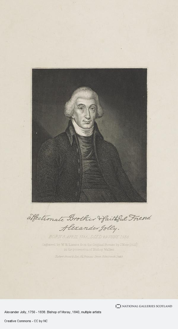 William Home Lizars, Alexander Jolly, 1756 - 1838. Bishop of Moray