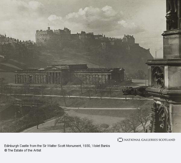 Violet Banks, Edinburgh Castle from the Sir Walter Scott Monument