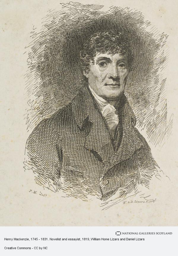 William Home Lizars and Daniel Lizars, Henry Mackenzie, 1745 - 1831. Novelist and essayist