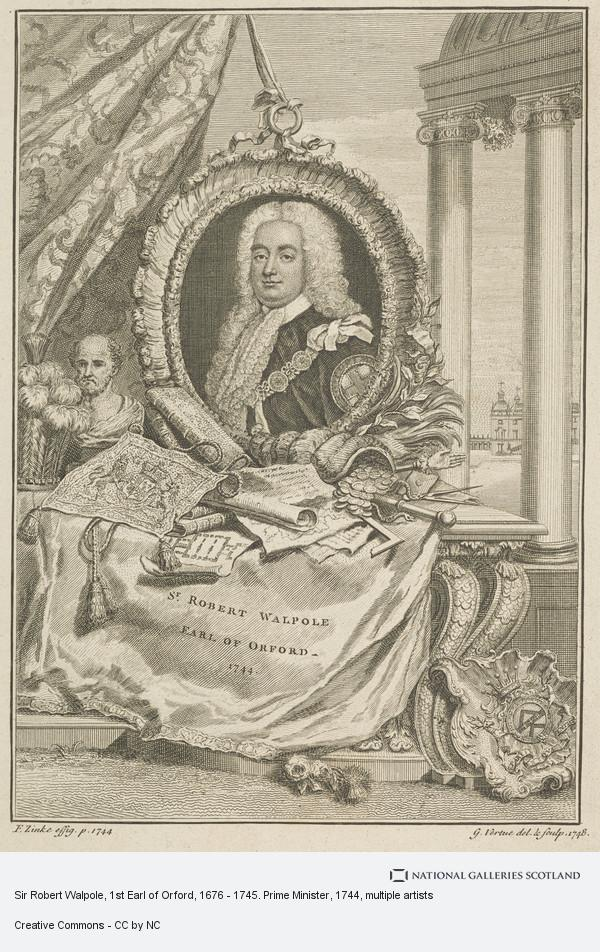 George Vertue, Sir Robert Walpole, 1st Earl of Orford, 1676 - 1745. Prime Minister
