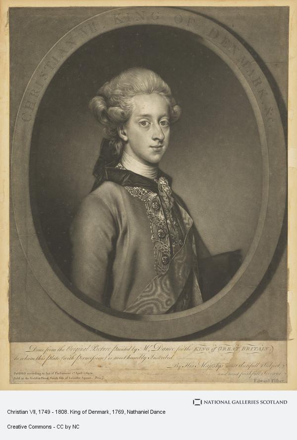 Nathaniel Dance, Christian VII, 1749 - 1808. King of Denmark