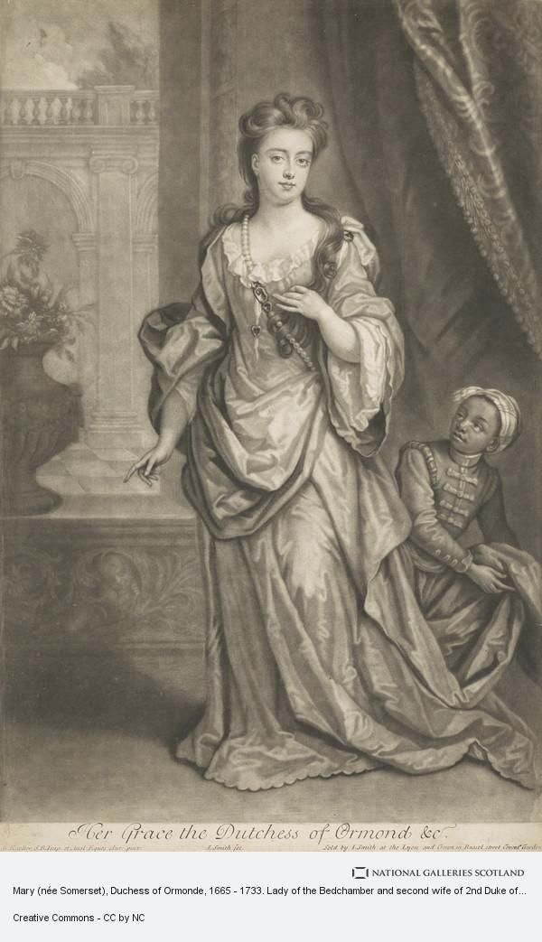 John Smith, Mary (née Somerset), Duchess of Ormonde, 1665 - 1733. Lady of the Bedchamber and second wife of 2nd Duke of Ormonde