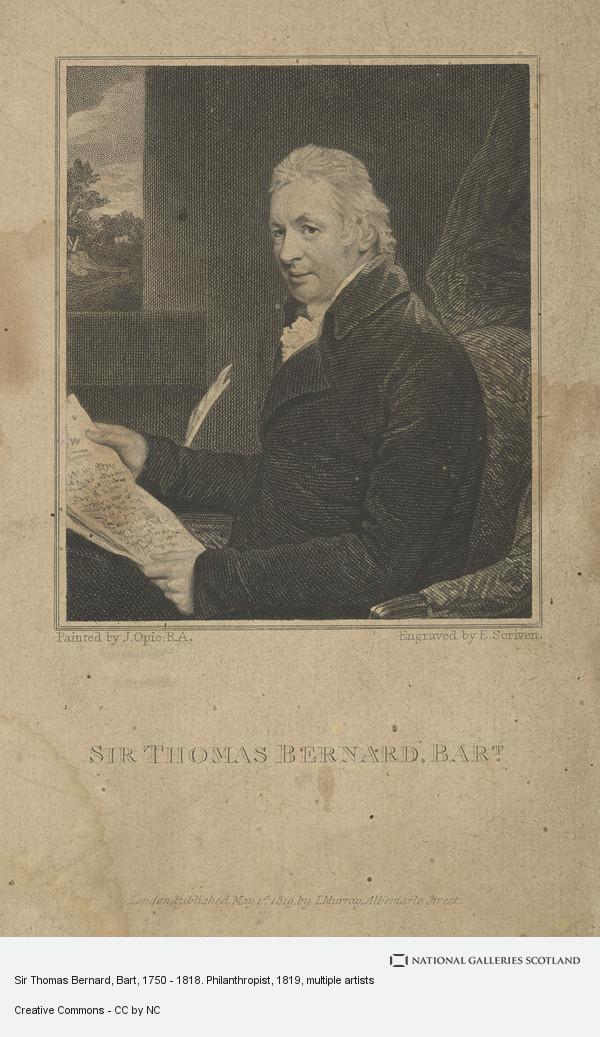 Edward Scriven, Sir Thomas Bernard, Bart, 1750 - 1818. Philanthropist