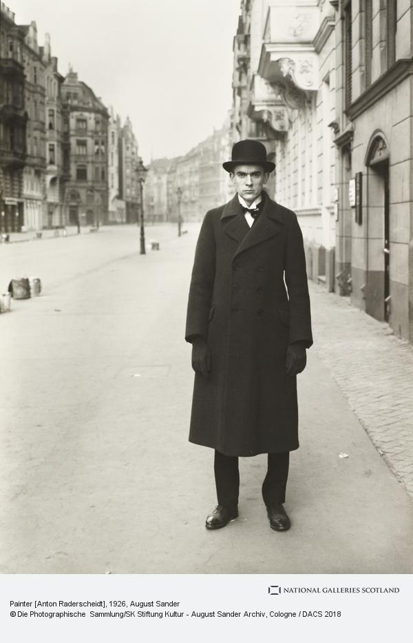 August Sander, Painter [Anton Raderscheidt], 1926