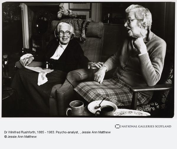 Jessie Ann Matthew, Dr Winifred Rushforth, 1885 - 1983. Psycho-analyst