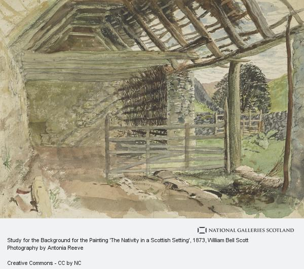 William Bell Scott, Study for the Background for the Painting 'The Nativity in a Scottish Setting'
