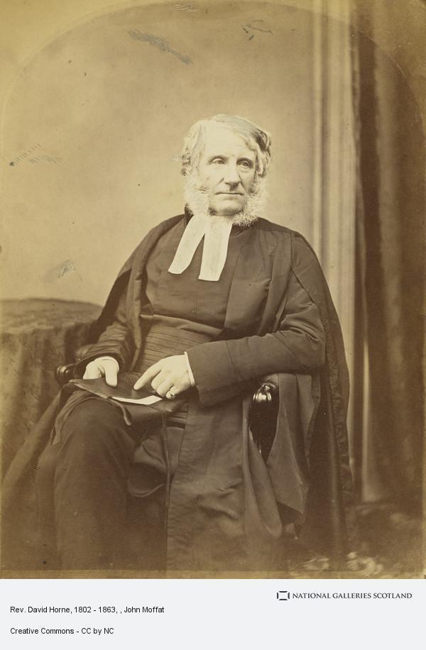 John Moffat, Rev. David Horne, 1802 - 1863