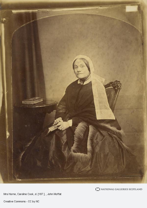 John Moffat, Mrs Horne, Caroline Cook, d. [187 ]