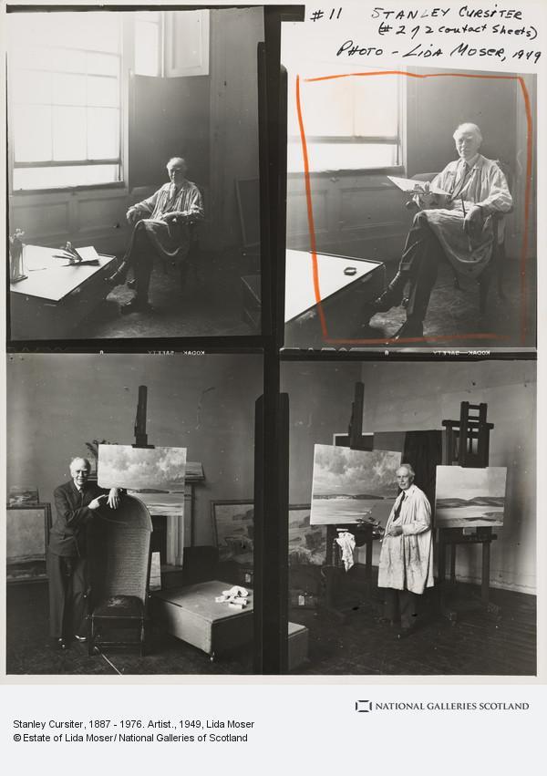 Lida Moser, Stanley Cursiter, 1887 - 1976. Artist.