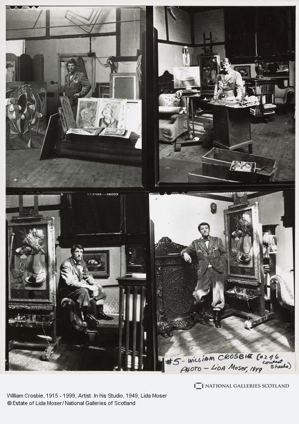 Lida Moser, William Crosbie, 1915 - 1999, Artist. In his Studio