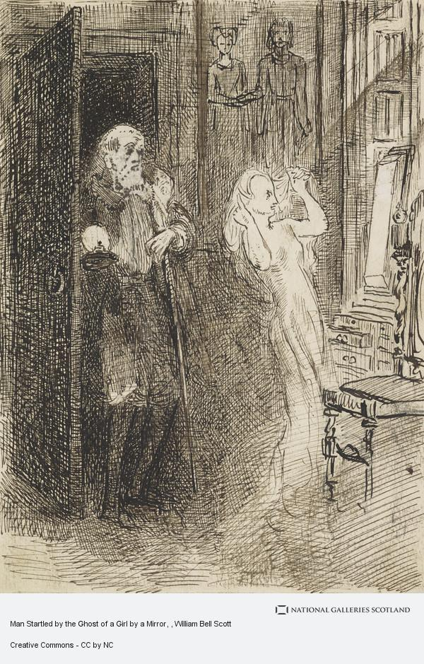 William Bell Scott, Man Startled by the Ghost of a Girl by a Mirror