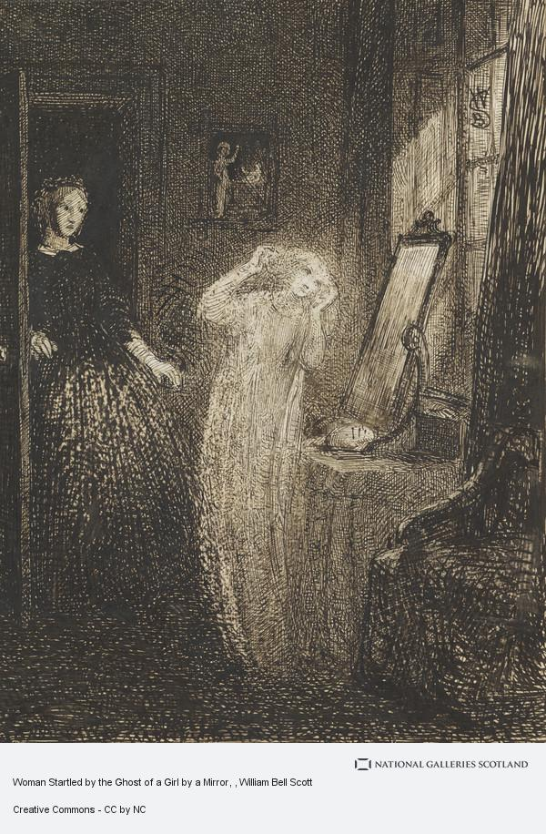 William Bell Scott, Woman Startled by the Ghost of a Girl by a Mirror