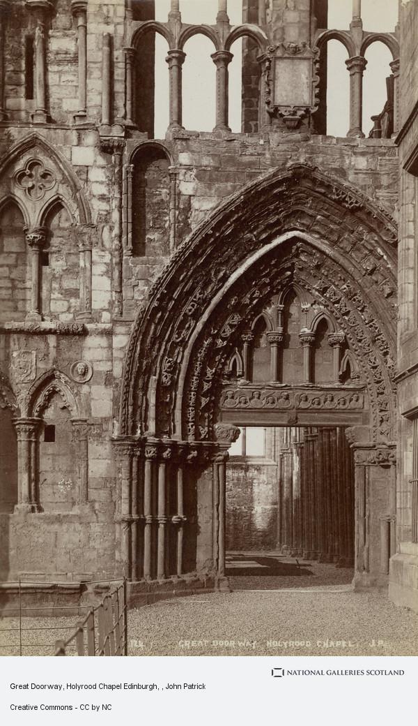John Patrick, Great Doorway, Holyrood Chapel Edinburgh