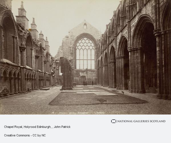 John Patrick, Chapel Royal, Holyrood Edinburgh
