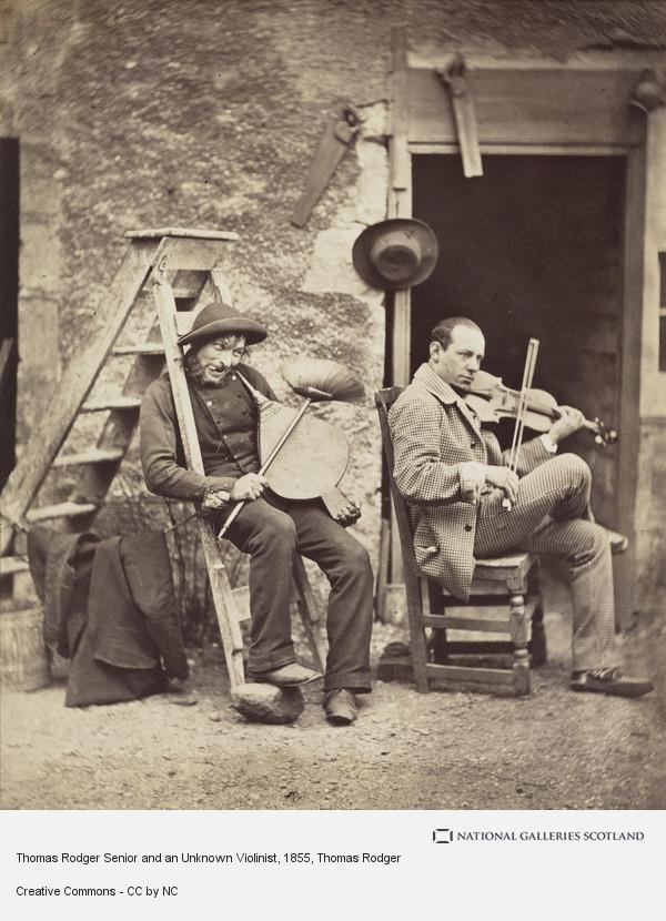 Thomas Rodger, Thomas Rodger Senior and an Unknown Violinist (About 1855)