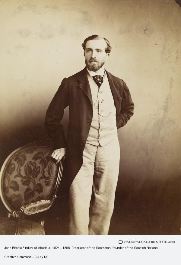 Thomas Rodger, John Ritchie Findlay of Aberlour, 1824 - 1898. Proprietor of the Scotsman; founder of the Scottish National Portrait Gallery