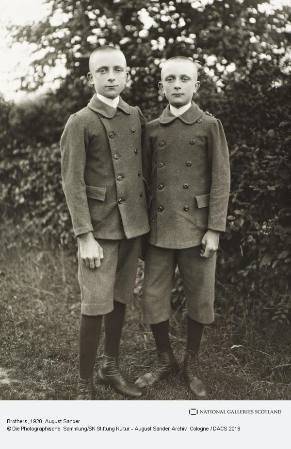 August Sander, Brothers, c.1920 (about 1920)