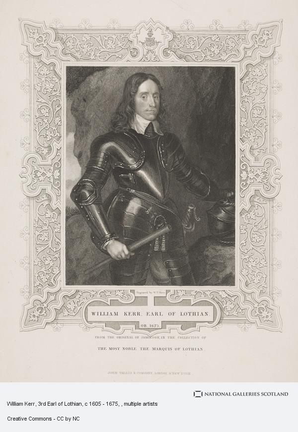 W.T. Mote, William Kerr, 3rd Earl of Lothian, c 1605 - 1675