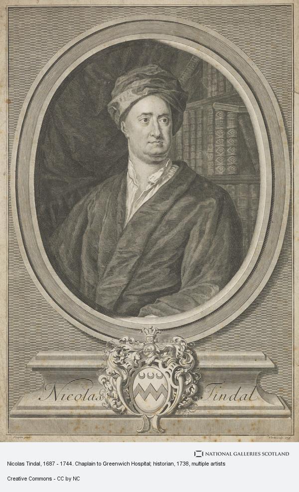 George Vertue, Nicolas Tindal, 1687 - 1744. Chaplain to Greenwich Hospital; historian