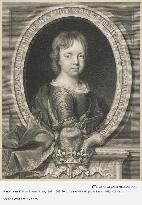 Pieter Louis van Schuppen, Prince James Francis Edward Stuart, 1688 - 1766. Son of James VII and II (as an infant)