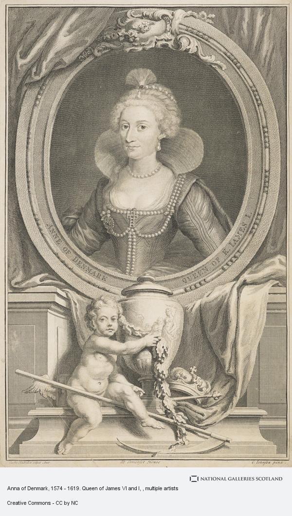 Jacobus Houbraken, Anne of Denmark, 1574 - 1619. Queen of James VI and I