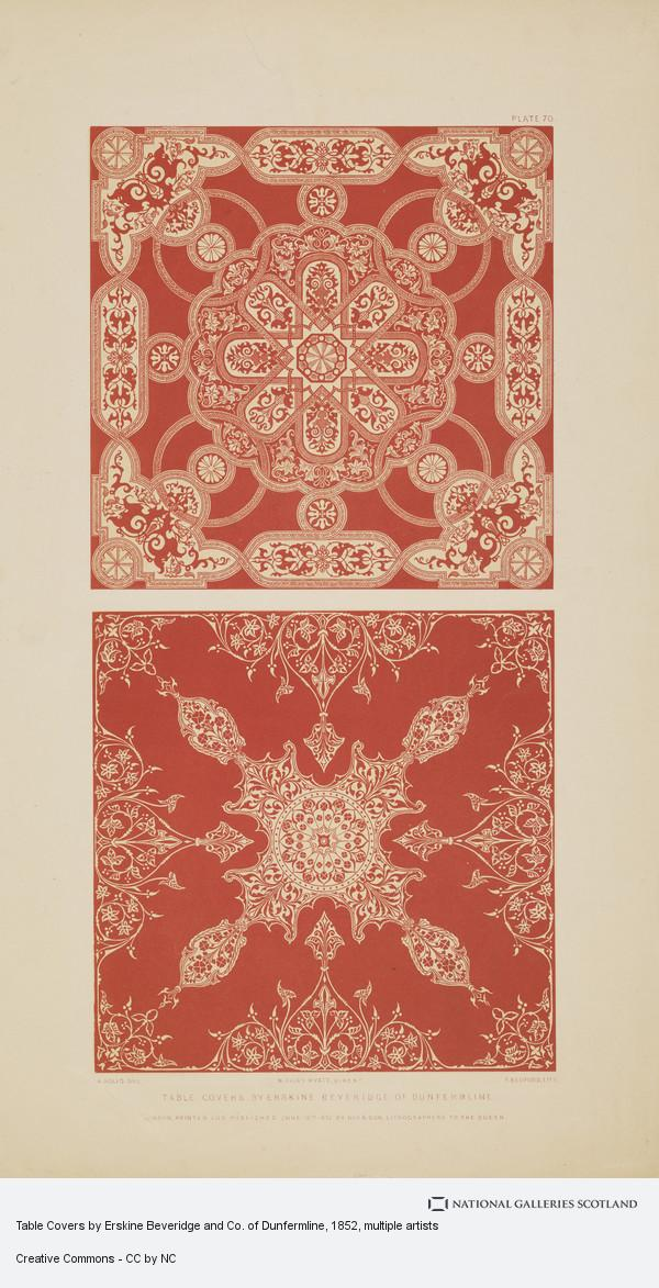 Francis Bedford, Table Covers by Erskine Beveridge and Co. of Dunfermline