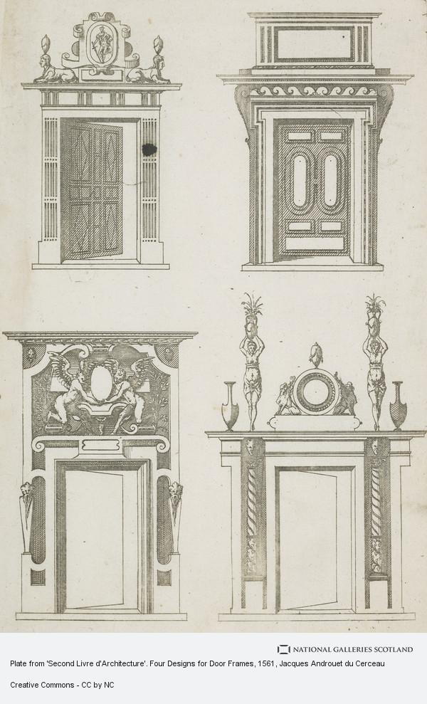 plate from 39 second livre d 39 architecture 39 four designs for door frames national galleries of. Black Bedroom Furniture Sets. Home Design Ideas