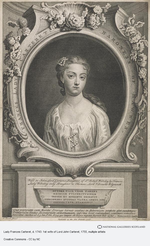 Thomas Major, Lady Frances Carteret, d. 1743. 1st wife of Lord John Carteret