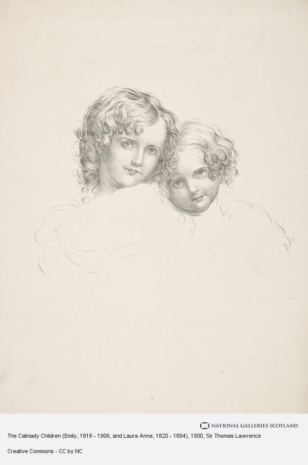 Sir Thomas Lawrence, The Calmady Children (Emily, 1818 - 1906, and Laura Anne, 1820 - 1894)