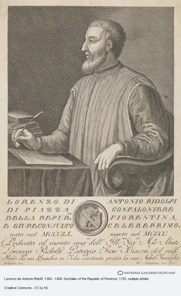 Francesco Allegrini, Lorenzo de Antonio Ridolfi, 1360 - 1400. Gonfalier of the Republic of Florence