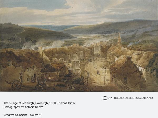 Thomas Girtin, The Village of Jedburgh, Roxburgh (1800)