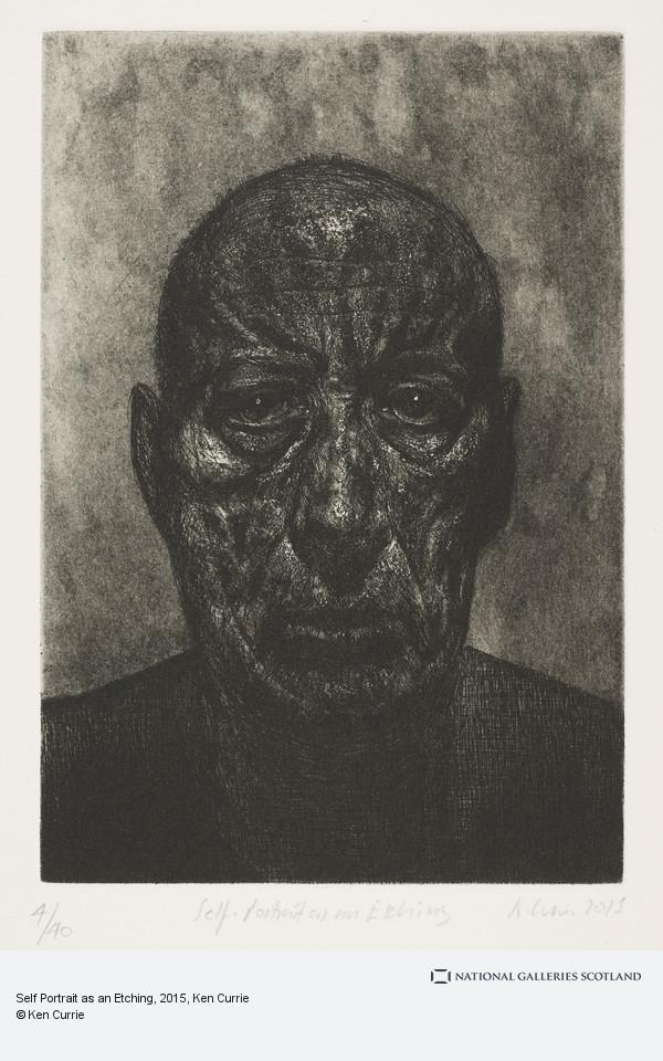 Ken Currie, Self Portrait as an Etching