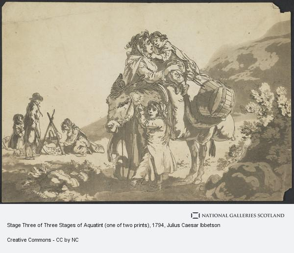 Julius Caesar Ibbetson, Stage Three of Three Stages of Aquatint (one of two prints)