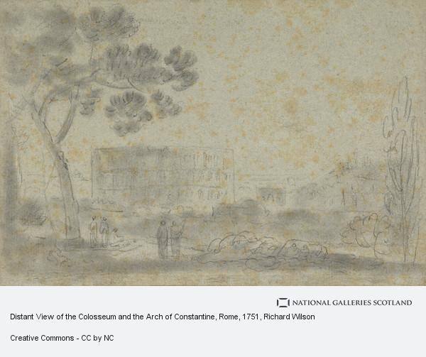 Richard Wilson, Distant View of the Colosseum and the Arch of Constantine, Rome
