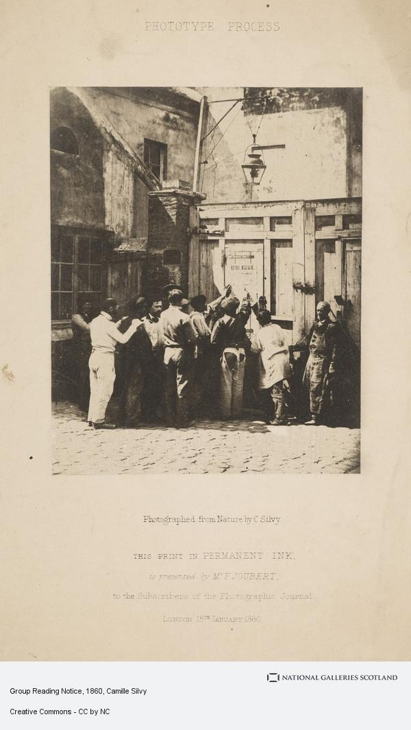 Camille Silvy, Group Reading Notice