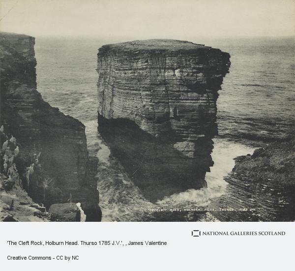 James Valentine, 'The Cleft Rock, Holburn Head. Thurso 1785 J.V.'