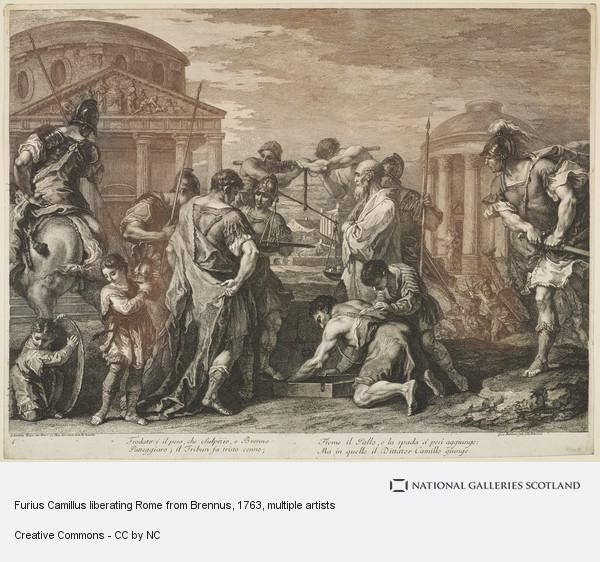 Francesco Bartolozzi, Furius Camillus liberating Rome from Brennus