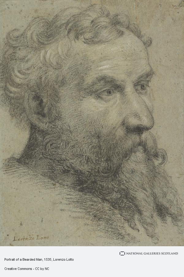 Lorenzo Lotto, Portrait of a Bearded Man