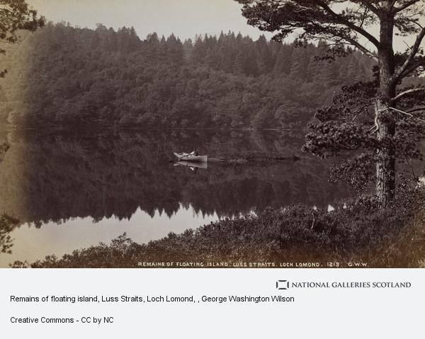 George Washington Wilson, Remains of floating island, Luss Straits, Loch Lomond