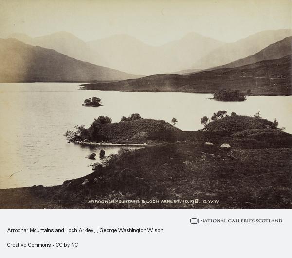 George Washington Wilson, Arrochar Mountains and Loch Arkley
