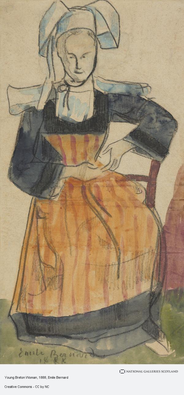 Emile Bernard, Young Breton Woman