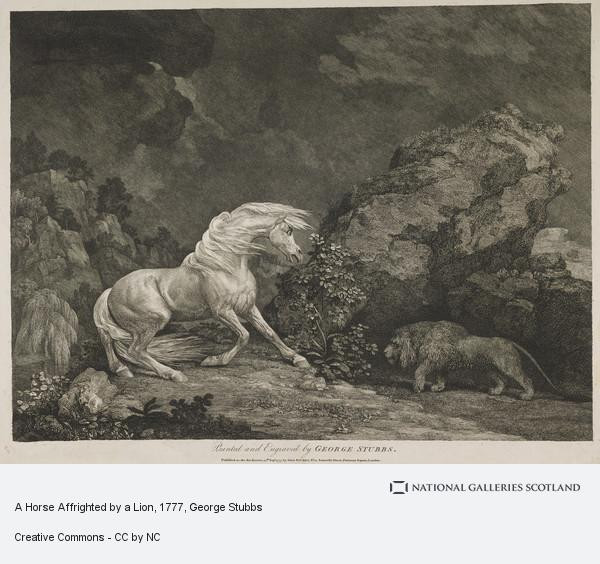 George Stubbs, A Horse Affrighted by a Lion