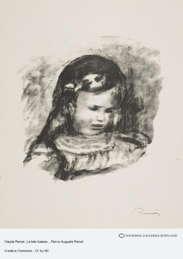 Pierre-Auguste Renoir, Claude Renoir, La tete baisee