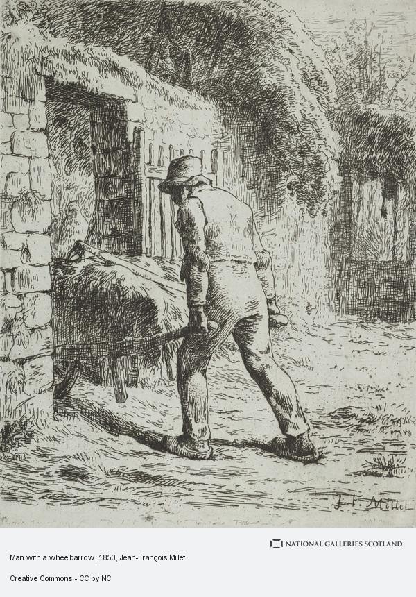Jean-François Millet, Man with a wheelbarrow