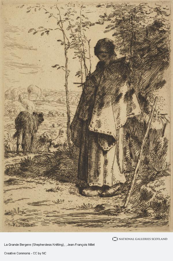 Jean-François Millet, La Grande Bergere (Shepherdess Knitting)