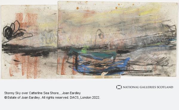 Joan Eardley, Stormy Sky over Catterline Sea Shore